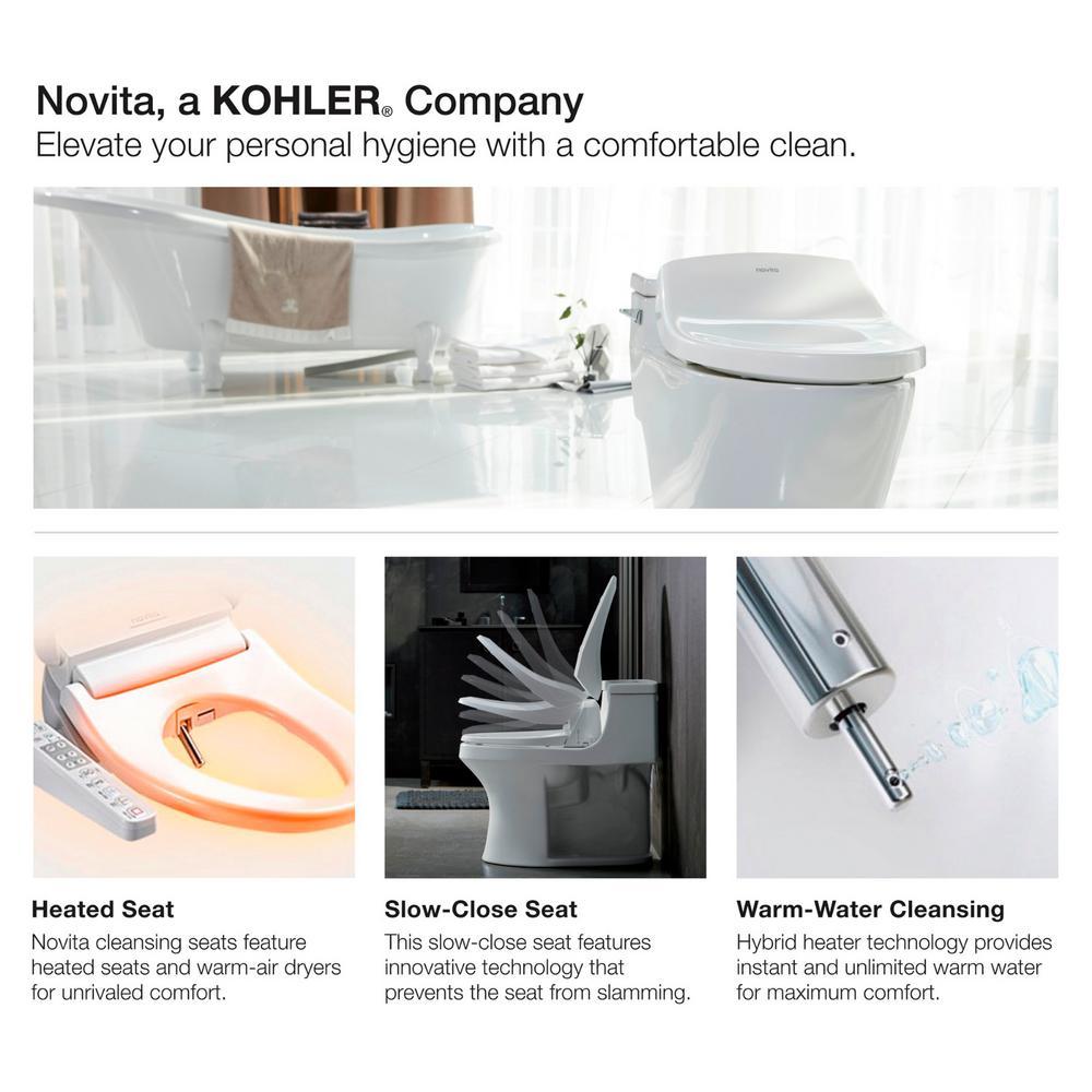 Super Kohler Novita Electric Bidet Seat For Round Toilets In White Machost Co Dining Chair Design Ideas Machostcouk