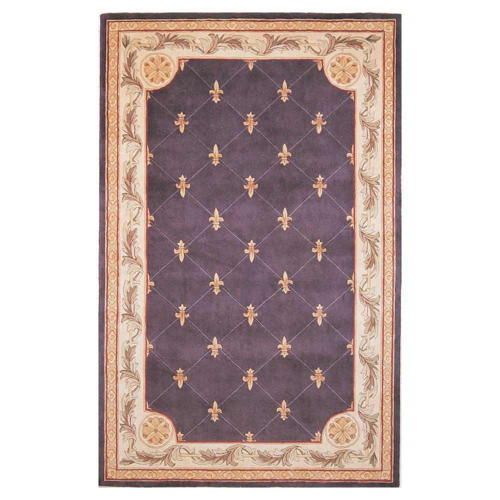 Kas Rugs Antique Fleur De Lis Sage 5 Ft X 8 Ft Area Rug