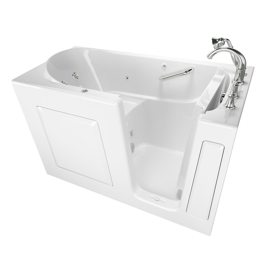 American Standard Exclusive Series 60 in. x 30 in. Right Hand Walk-In Whirlpool Tub with Quick Drain in White