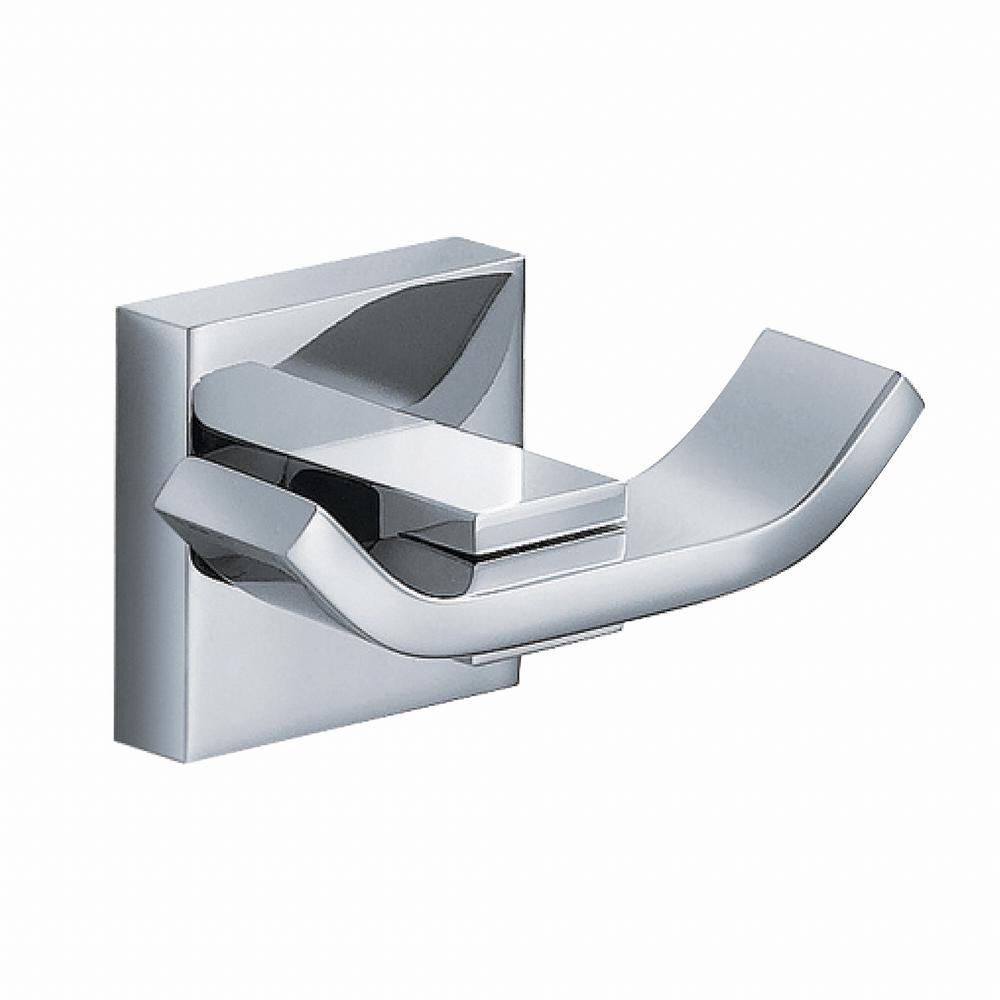 Aura Bathroom Double Robe Hook in Chrome