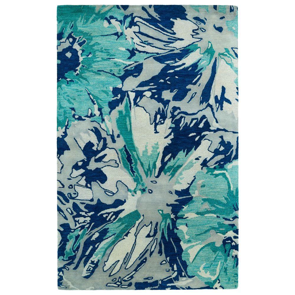 Kaleen Brushstrokes Blue 2 ft. x 3 ft. Area Rug