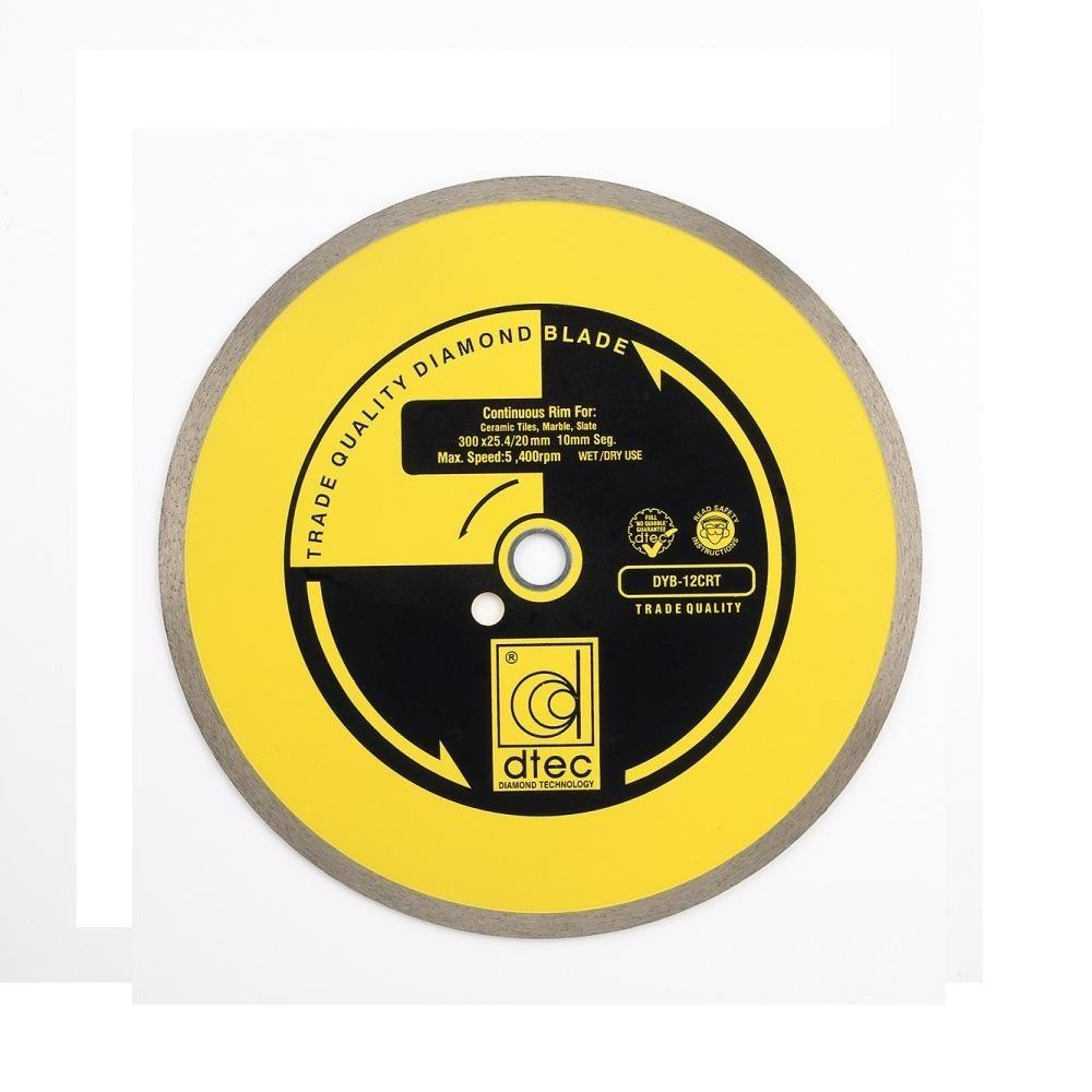 Dtec 12 In. Continous Rim Diamond Blade - Wet/Dry Tile and Stone