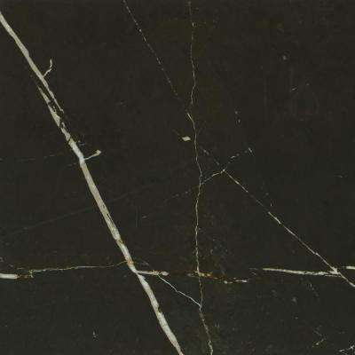 Marble View Black Marble Polished 24 in. x 24 in. Color Body Porcelain Floor and Wall Tile (15.2 sq. ft. / case)