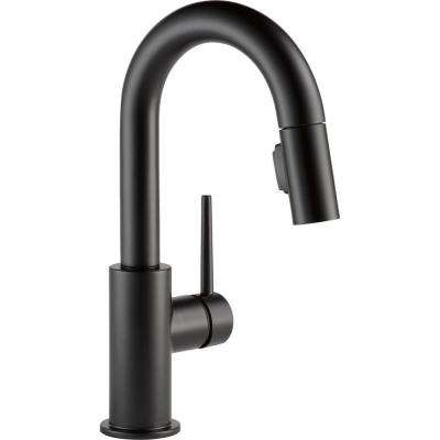 Trinsic Single-Handle Pull-Down Sprayer Bar Faucet with MagnaTite Docking in Matte Black
