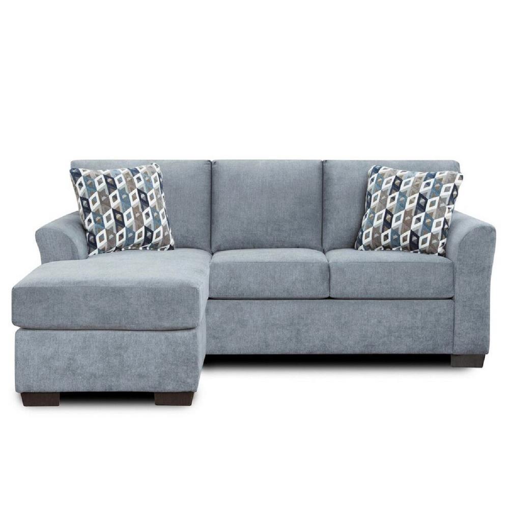 Weaver Anna Blue and Grey Sofa Chaise