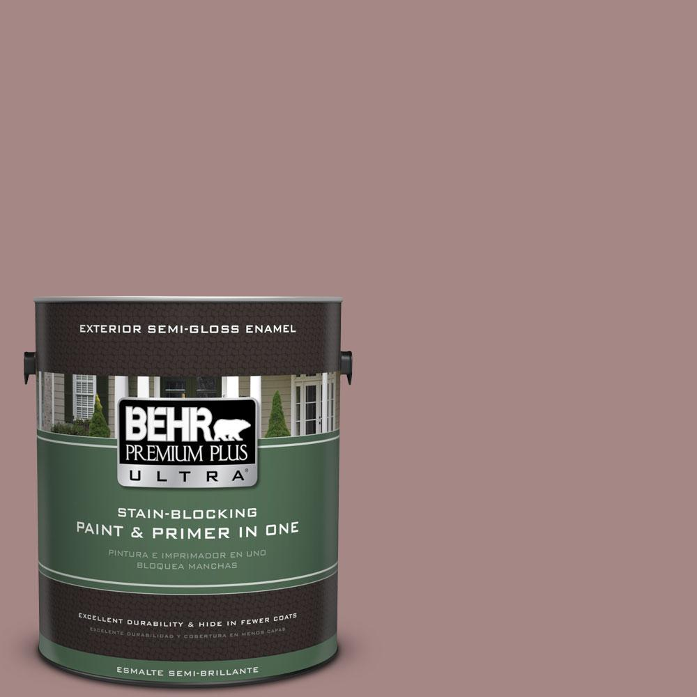 1-gal. #120F-4 Blackberry Mocha Semi-Gloss Enamel Exterior Paint