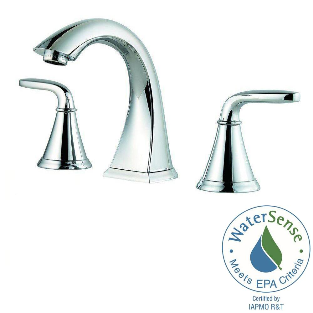 Pfister Pasadena 8 in. Widespread 2-Handle Bathroom Faucet in Polished  Chrome