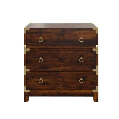 Butler Forster Brown Campaign 3-Drawer Chest