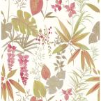 Pamela, Descano Flower Pink Botanical Wallpaper