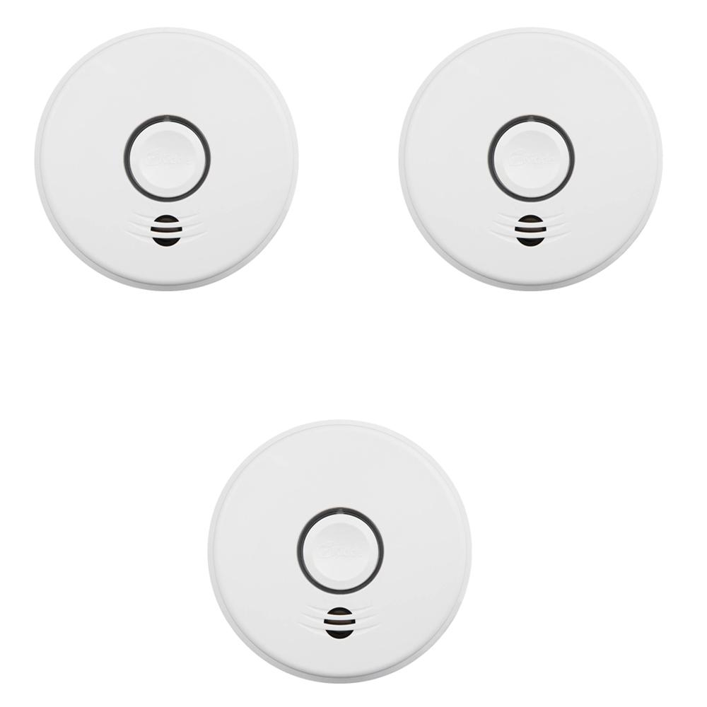Kidde 10-Year Sealed Battery Smoke Detector with Intelligent Wire-Free Voice Interconnect (3-pack)
