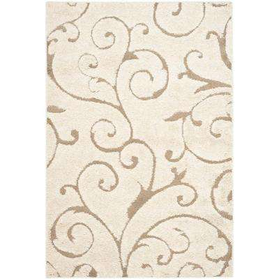 Florida Shag Cream/Beige 11 ft. x 15 ft. Area Rug