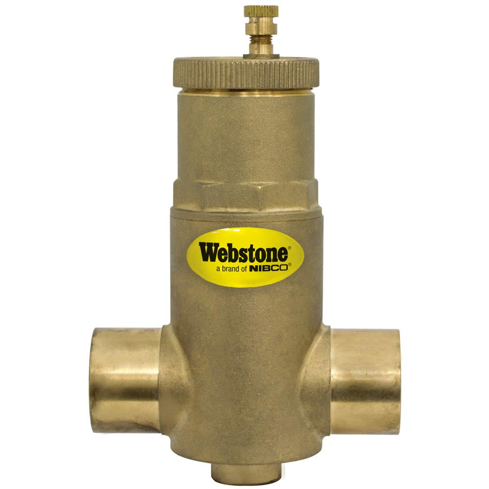1 in. SWT Forged Brass Air Separator with Removable Vent Head