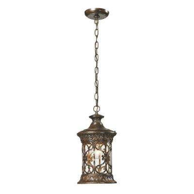 Marius Collection 1-Light Hazelnut Bronze Outdoor Pendant