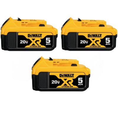 20-Volt MAX XR Premium Lithium-Ion 5.0Ah Battery Pack (3-Pack)