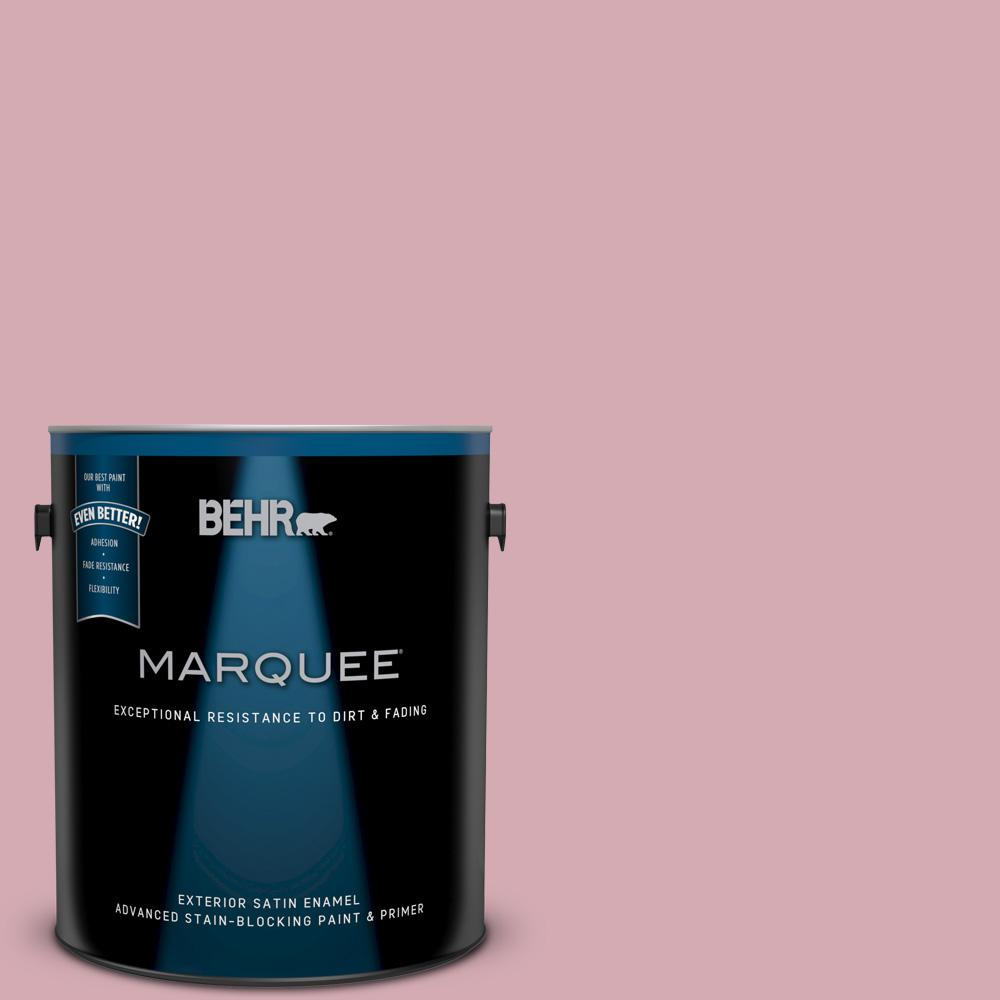 BEHR MARQUEE 1 gal. #N460-2 Planetary Silver Satin Enamel Exterior ...