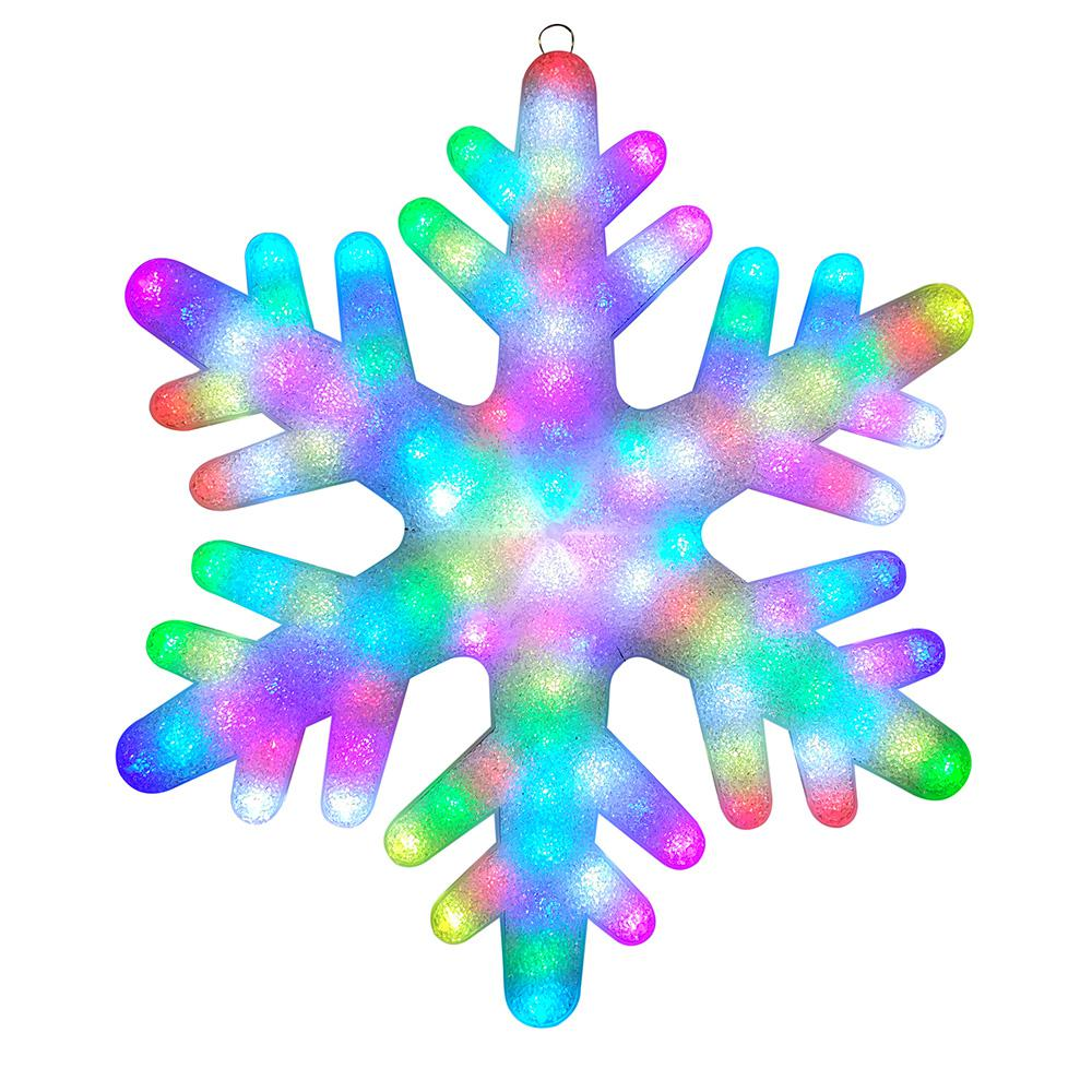 Illuminations 24 in  Color Blast Remote Controlled RGB LED 84-Light Giant  Snowflake