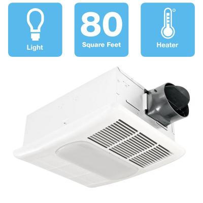 Radiance Series 80 CFM Ceiling Bathroom Exhaust Fan with Light and Heater