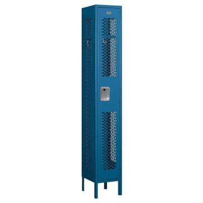 71000 Series 12 in. W x 78 in. H x 12 in. D Single Tier Vented Metal Locker Assembled in Blue