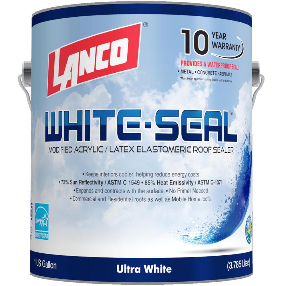 Lanco 1 Gal. White Seal Eleastomeric Roof Coating