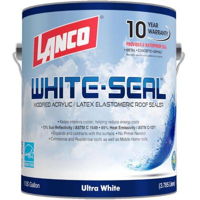 1 Gal. White-Seal Acrylic Elastomeric Reflective Roof Coating with High Dirt Pick-Up Resistance