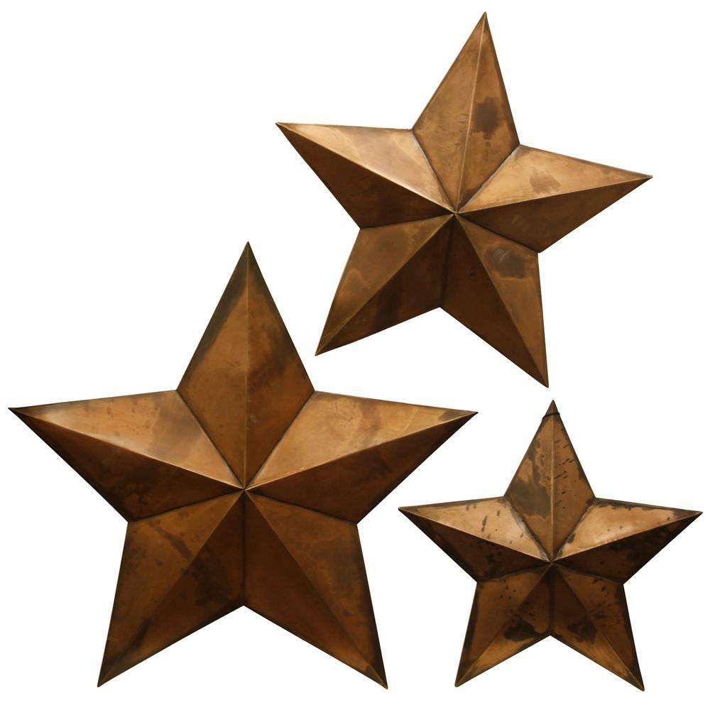 StyleCraft Copper Capitals Copper Metal Work (Set of 3), Brown was $99.99 now $46.32 (54.0% off)