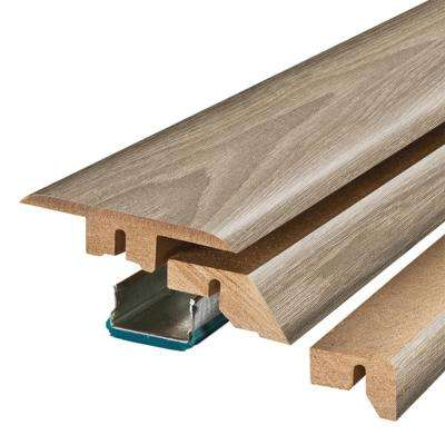 Rustic Wood 3/4 in. Thick x 2-1/8 in. Wide x 78-3/4 in. Length Laminate 4-in-1 Molding