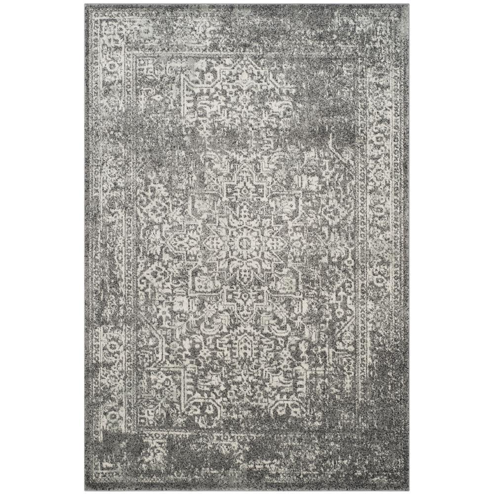 Evoke Grey/Ivory 7 ft. x 9 ft. Area Rug