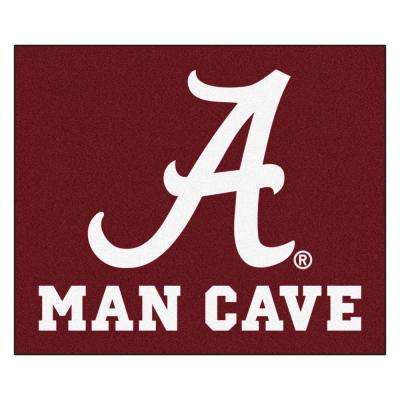 University of Alabama Red Man Cave 5 ft. x 6 ft. Area Rug