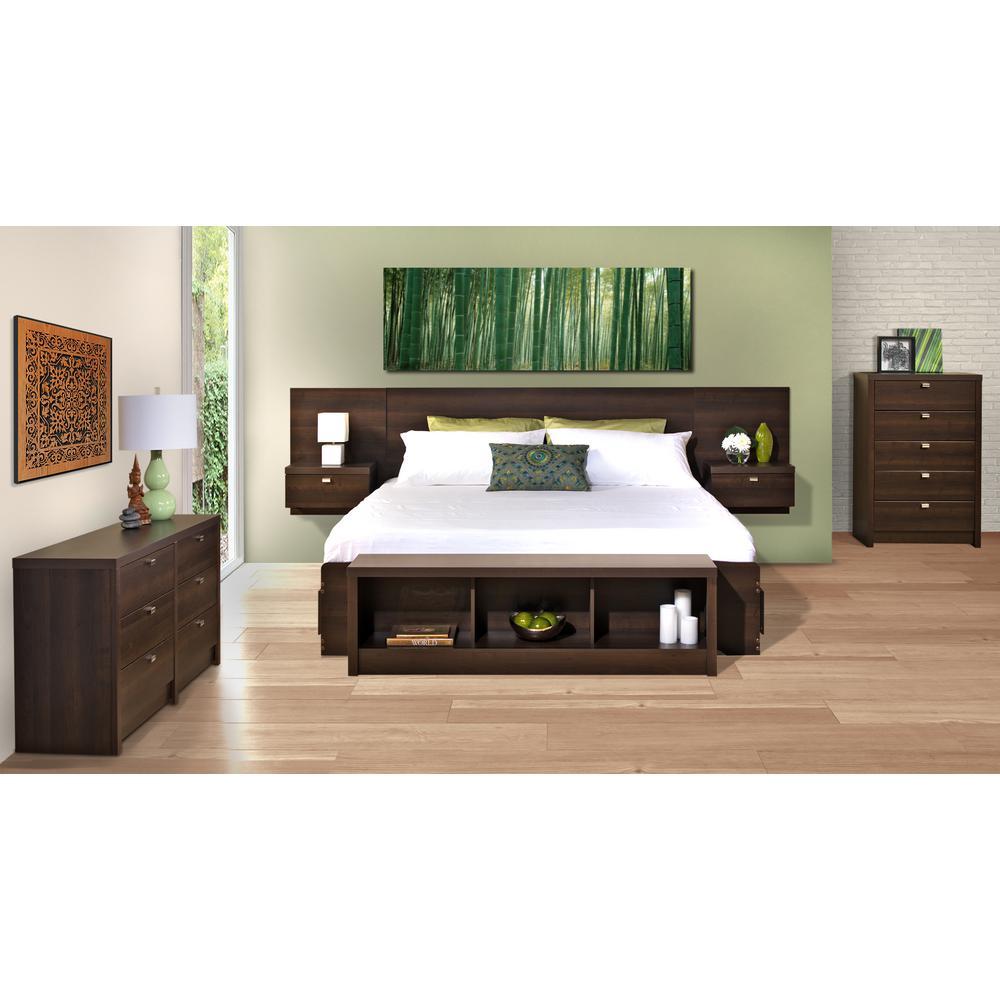 Prepac Series 9 1-Piece Espresso King Bedroom Set-EHHK-0520-2K ...