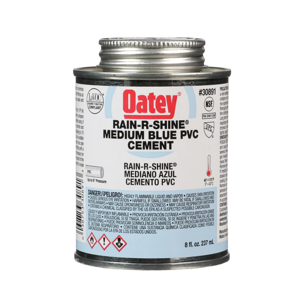 Oatey Rain R Shine 8 Oz Pvc Cement 308913 The Home Depot