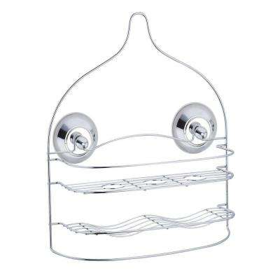 Shower Caddy with Washcloth Bar in Chrome