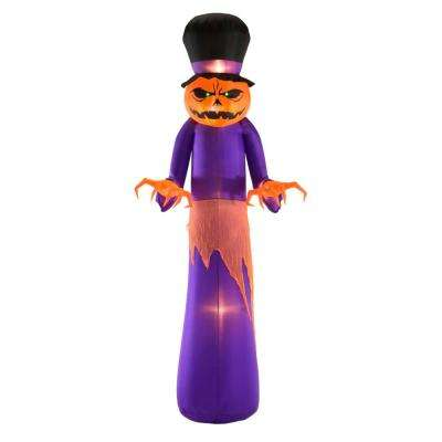 12 ft. Giant Pumpkin Reaper with Top Hat Halloween Inflatable
