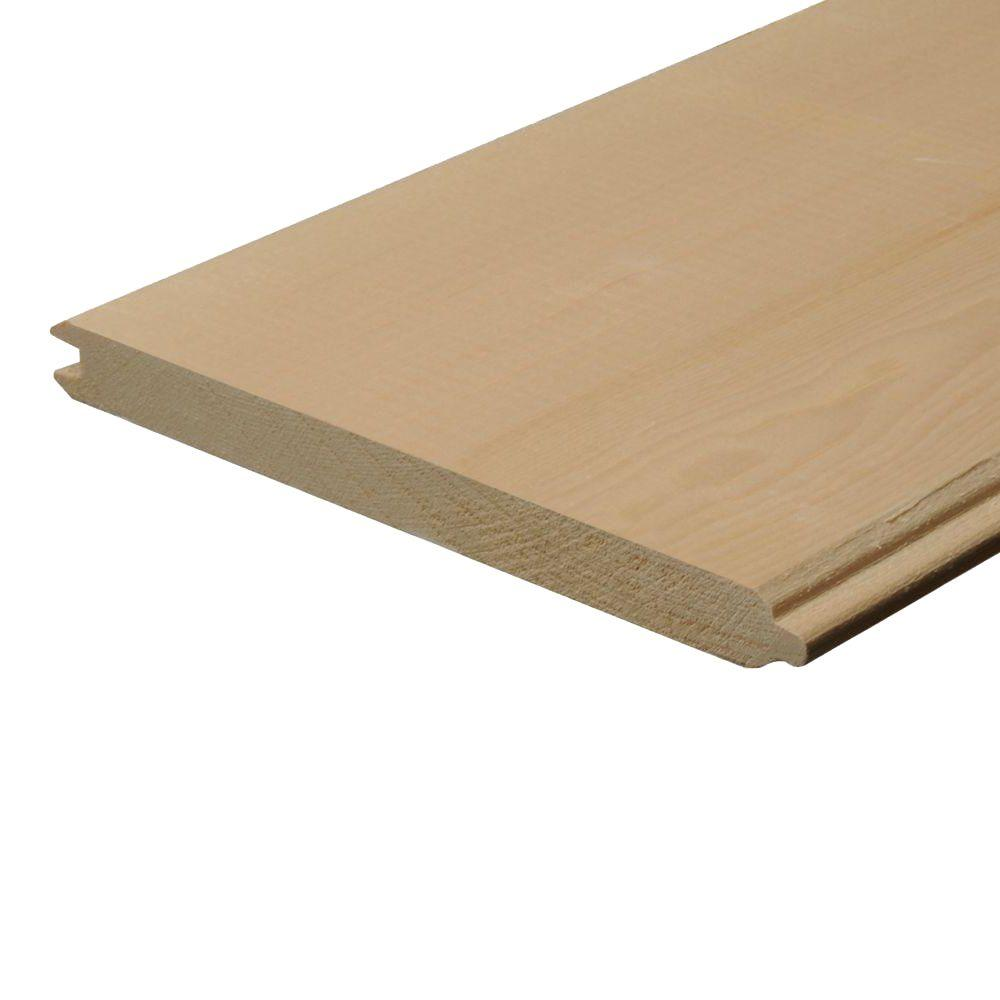 1 in. x 8 in. x 12 ft. Tongue and Groove Pine Board