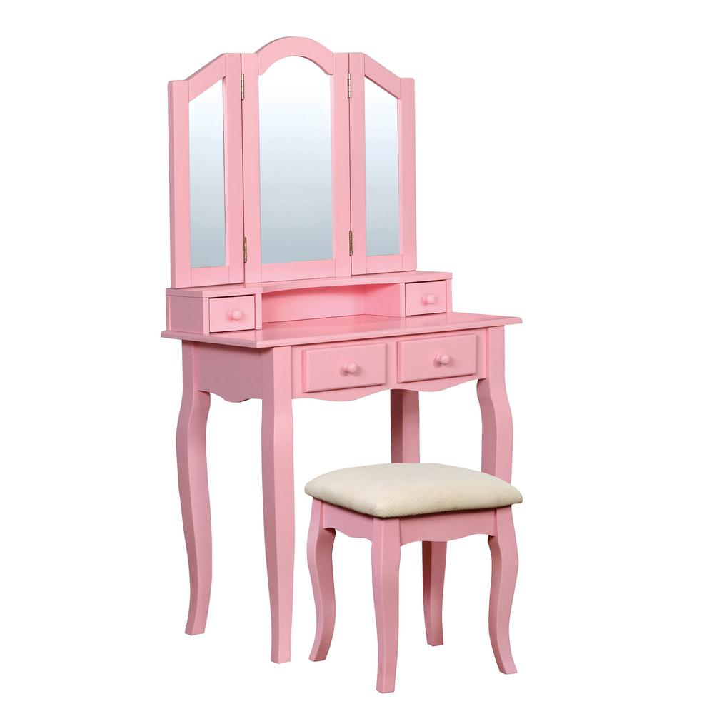 Ziegler 2-Piece Pink Double Deck Vanity Set