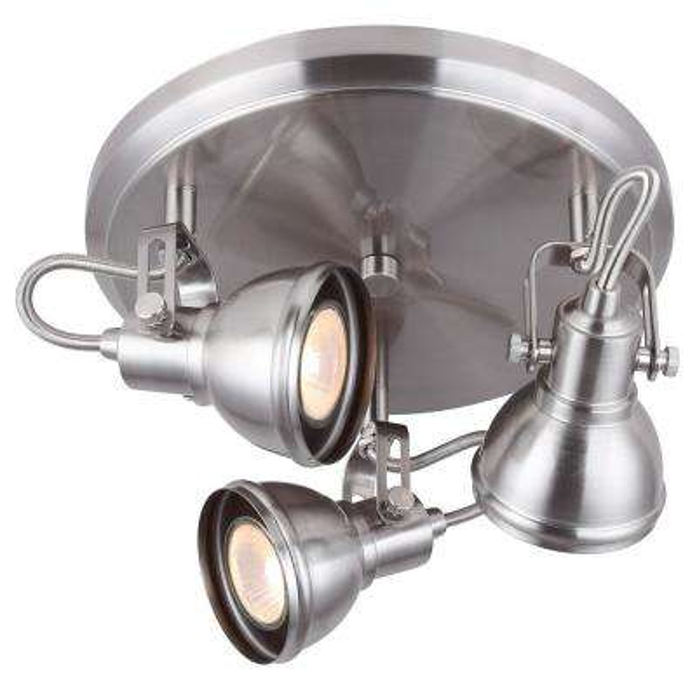 Polo 3-Light Brushed Nickel Flushmount