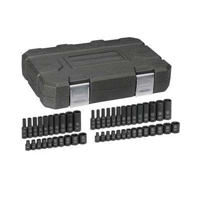 1/4 in. Drive SAE/Metric Impact Socket Set (48-Piece)