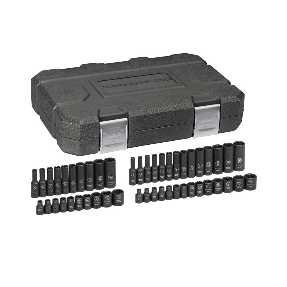 1/4 in. Drive SAE/Metric Impact Socket Set (48-Piece)