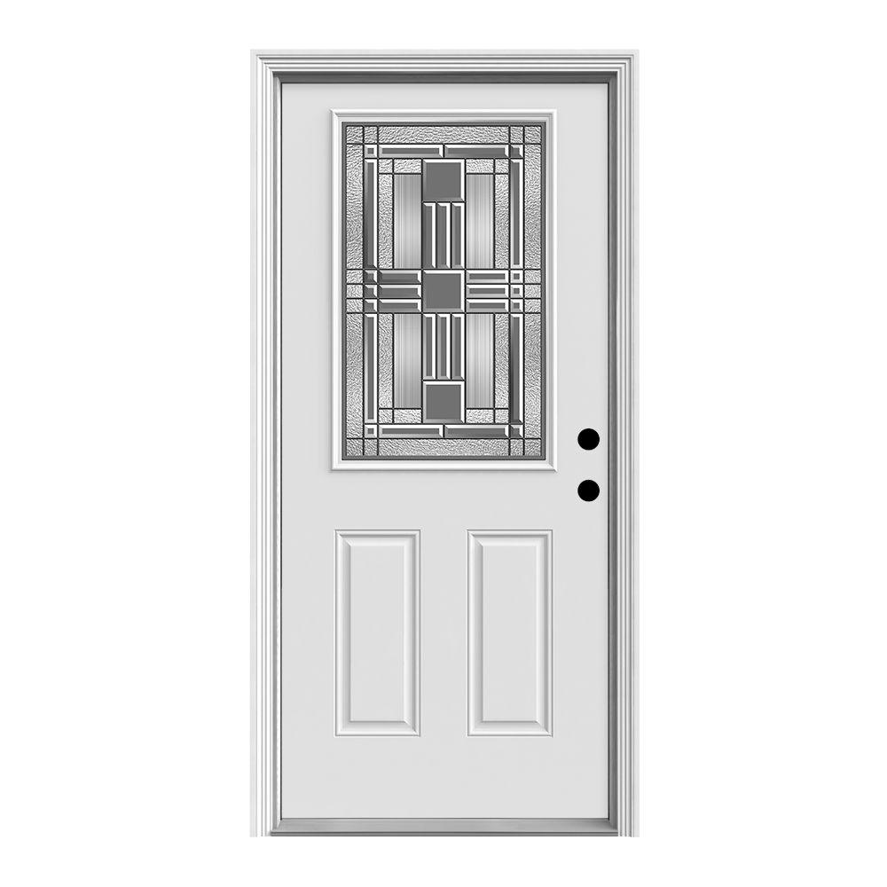 Jeld wen 36 in x 80 in cordova 1 2 lite primed premium for Jeld wen front entry doors