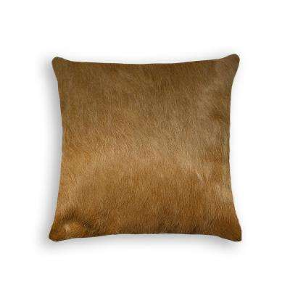 Torino Tan 18 in. x 18 in. Cowhide Pillow