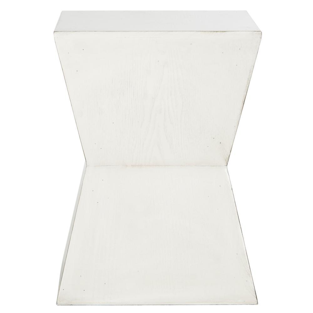 Safavieh Bartholomew White And Gray End Table Fox4211b