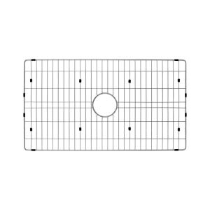Single Bowl Radius Kitchen Sink Grid in Brushed Stainless Steel