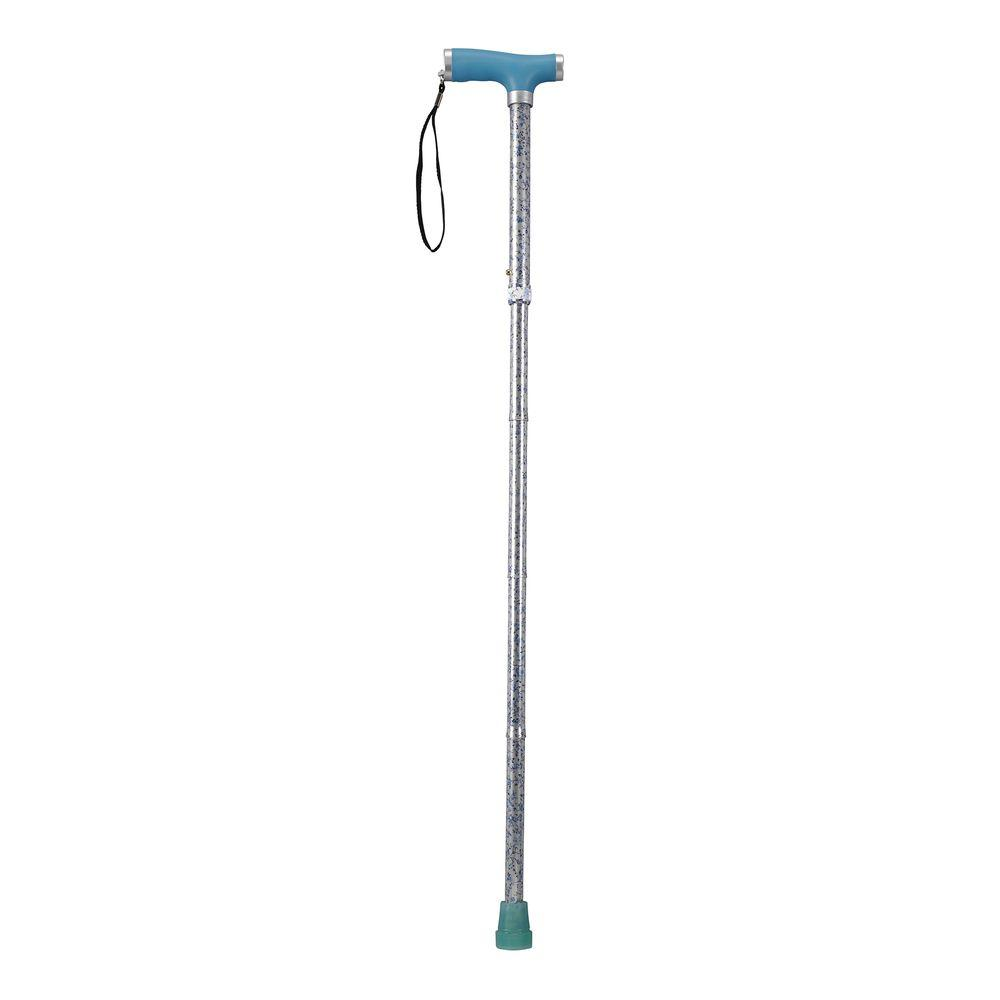 Drive Folding Canes with Glow Gel Grip Handle in Light Blue
