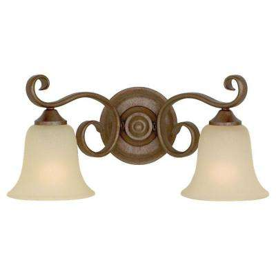 Vista 2-Light Corinthian Bronze Vanity Light