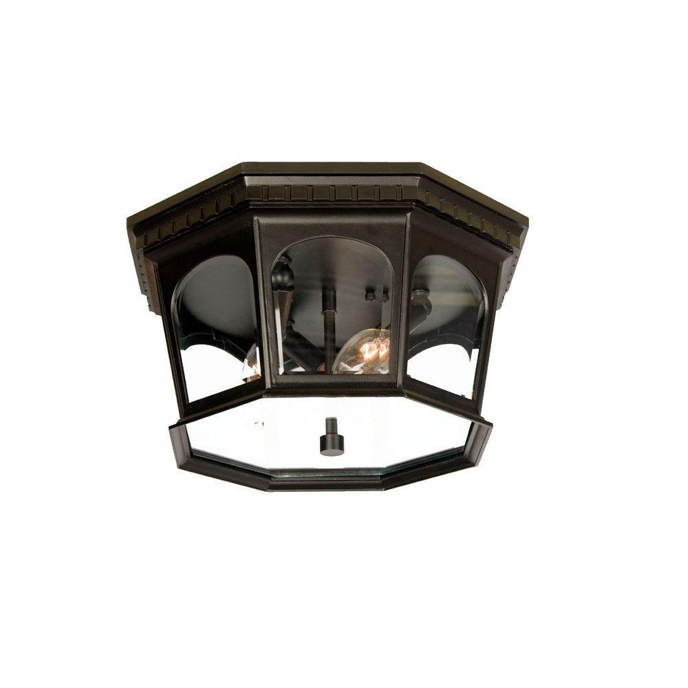Acclaim Lighting Newcastle Collection Ceiling-Mount 3-Light Matte Black Light Fixture