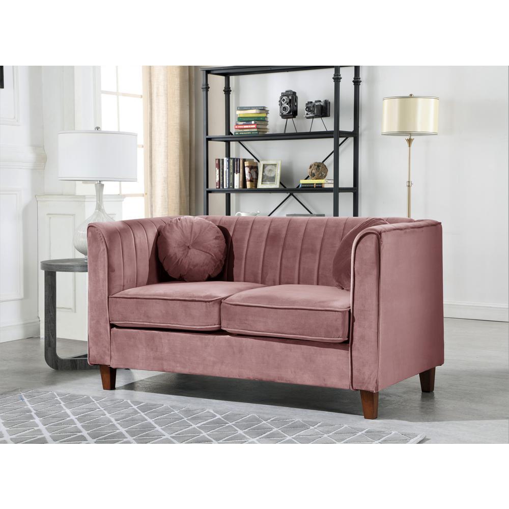 Phenomenal Lowery Velvet Kitts Classic Chesterfield Loveseat Rose Short Links Chair Design For Home Short Linksinfo