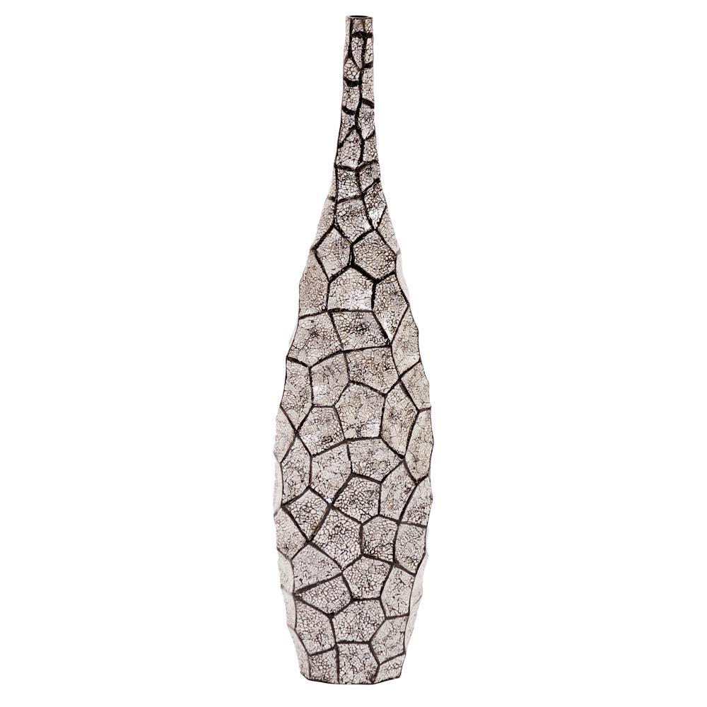 Black and White Honeycomb Bottle Vase