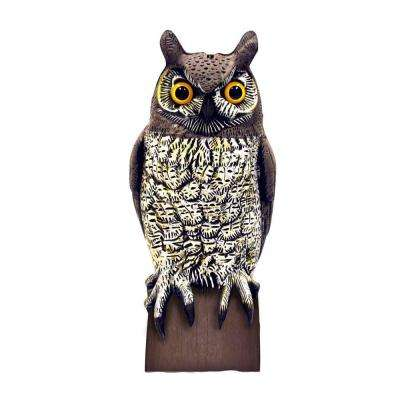 VisualScare Molded Owl Scarecrow Bird Repellent