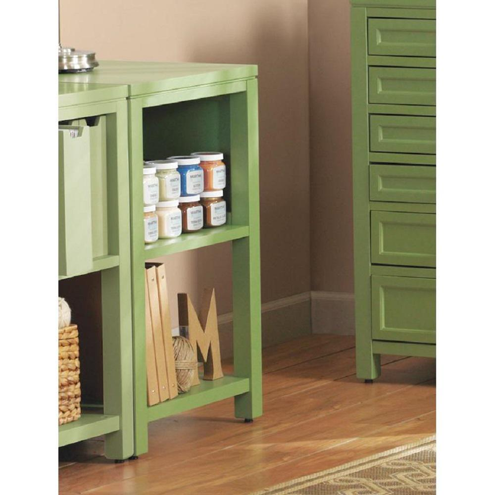 Martha Stewart Living Craft Space 21 In. W Storage Console Rhododendron  Leaf Green