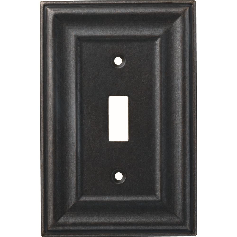 Hampton Bay 1-Gang Winslow Decorative Single Switch, Soft Iron