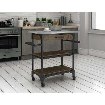 Caraway Espresso Kitchen Cart